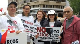 Protesters at the Philippine Consulate in Vancouver. (Photo: Global Pinoy Diaspora)